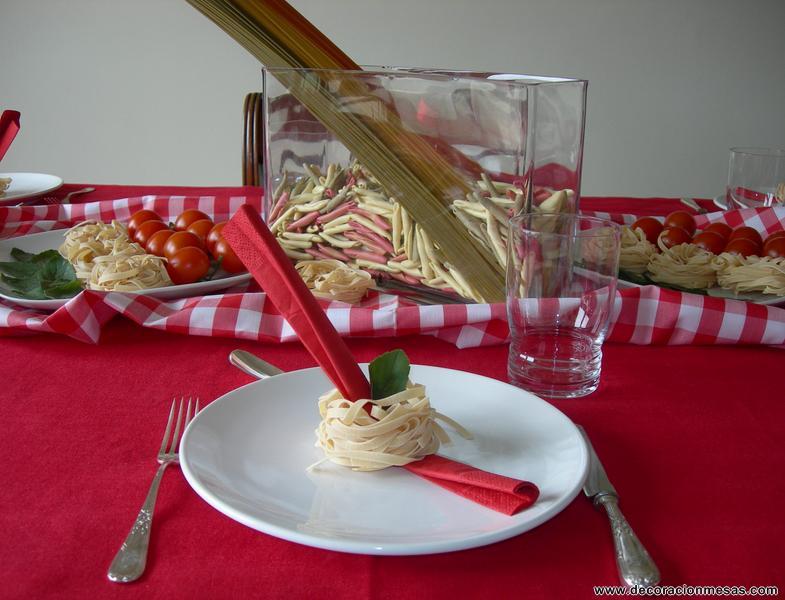 Decoracion de mesas julio 2011 for Decoracion italiana