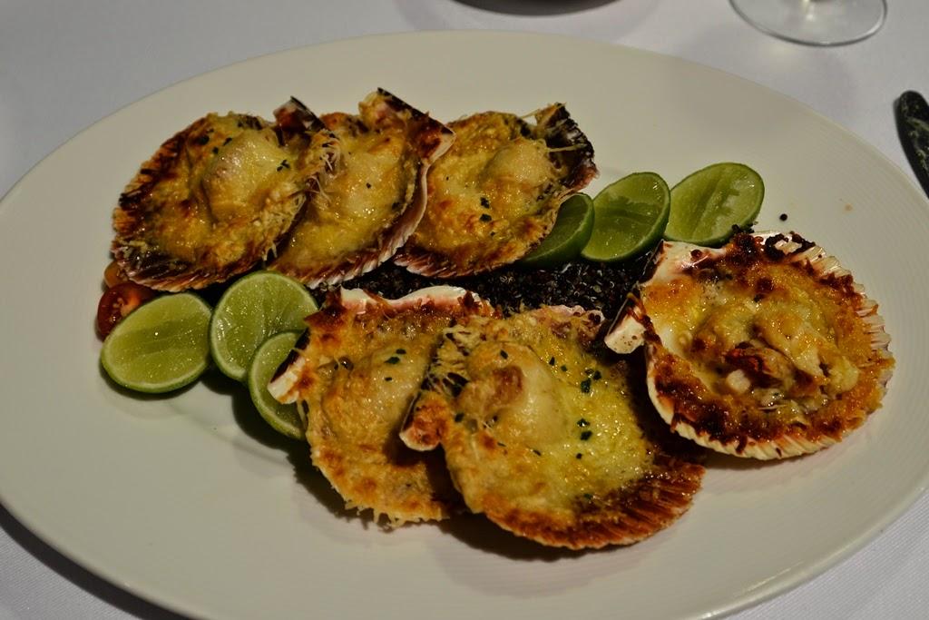 Hotel Costa del Sol, Lima Airport restaurant scallops