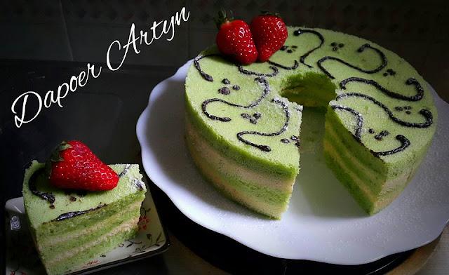 Resep Sponge Cake Pisang Pandan Keju