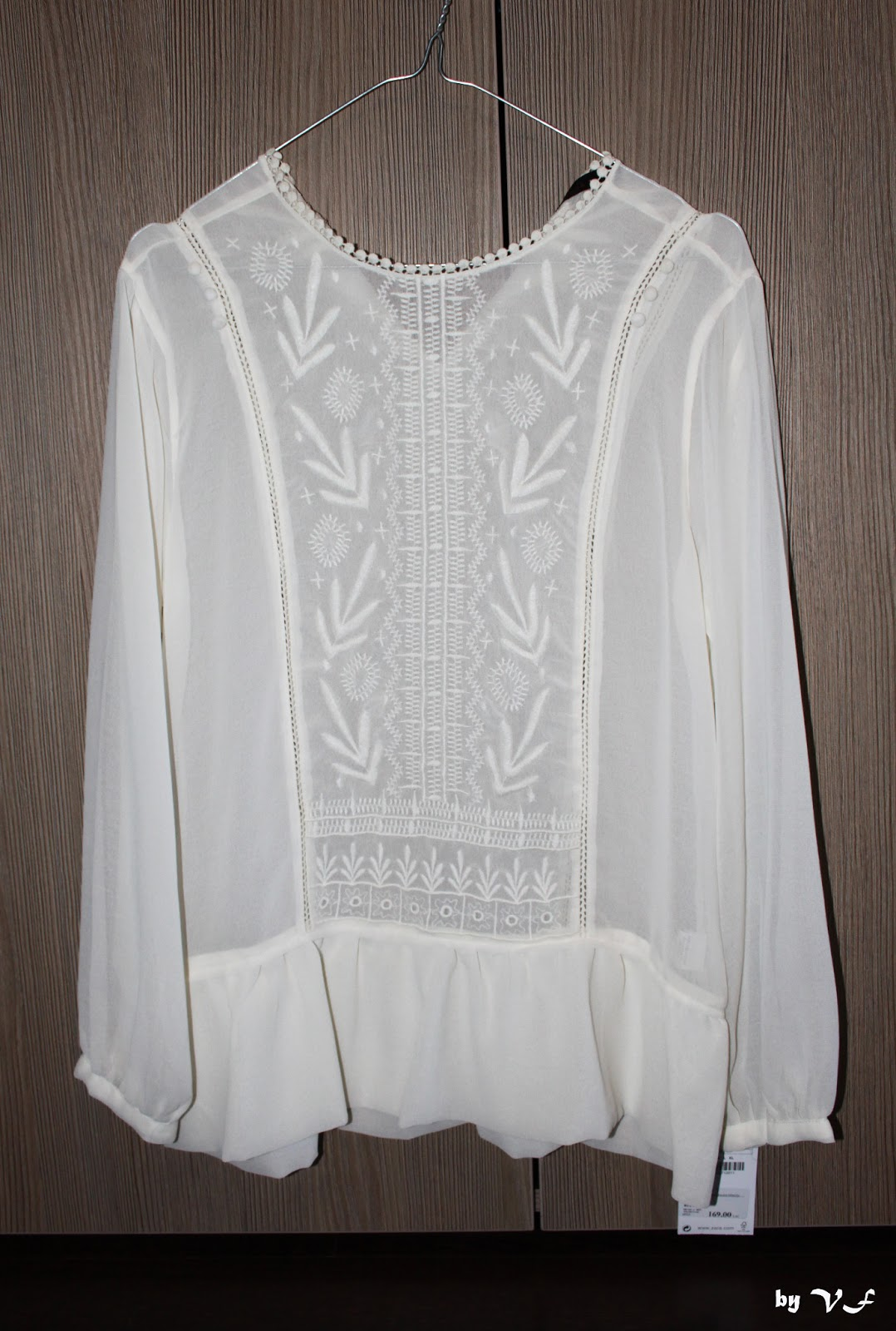 Zara Combined Embroidered Blouse 83