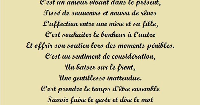 6 poeme l 39 amour qui existe entre une maman et sa fille - Phrase a mettre sur une photo ...
