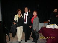 con Jose Beltrán crítico literario y Viky