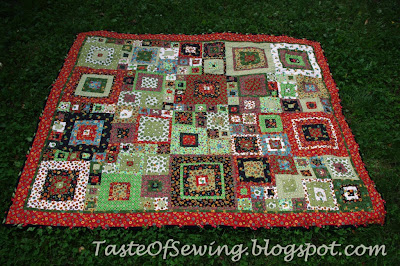coming home moda square block quilt stippling покрывало печворк из квадратов в деревенском стиле