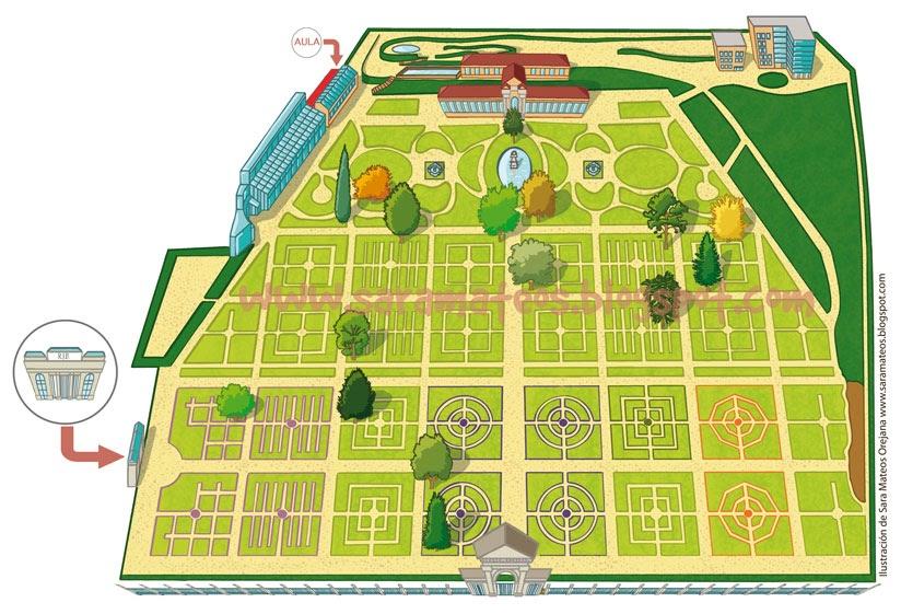 Sara mateos ilustraci n plano infantil para el real for Precio entrada jardin botanico madrid