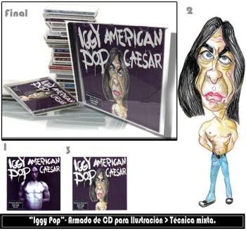 Ilustración con una leyenda del rock...