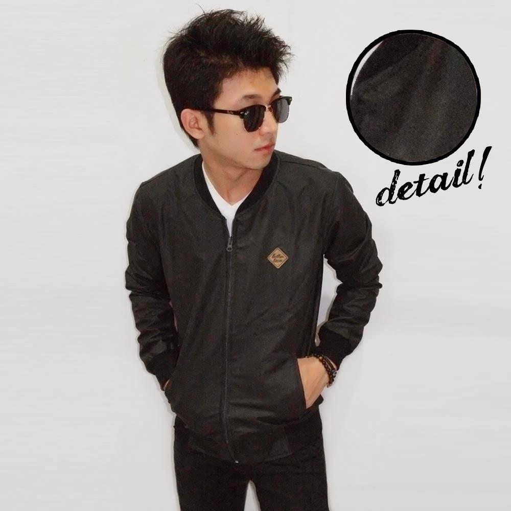 Jacket Varsity Leather Black Doff