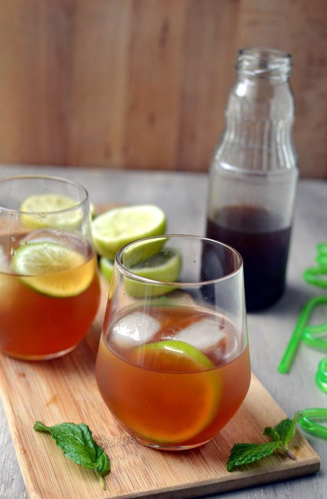 Limeade with Mexican Brown Sugar (Agua de Papelon)