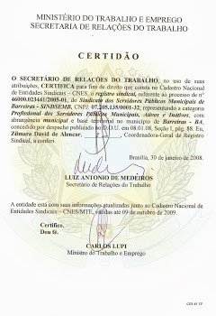 CERTIDÃO SINDICAL