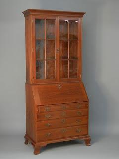 Chippendale Secretary Desk and Bookcase