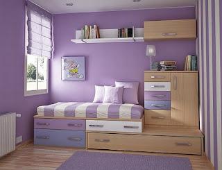 Purple teenage bedroom for girls ideas