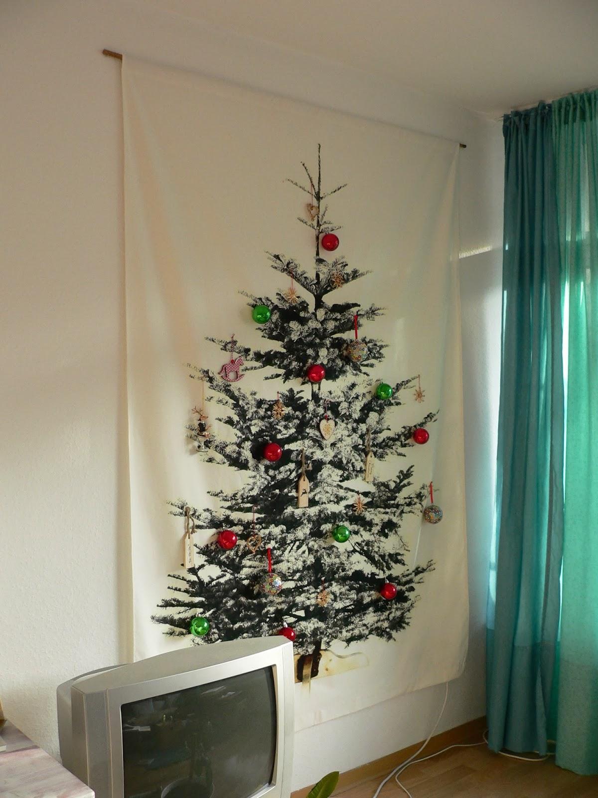 Weihnachtsbaum wand frohe weihnachten in europa - Weihnachtsbaum wand ...