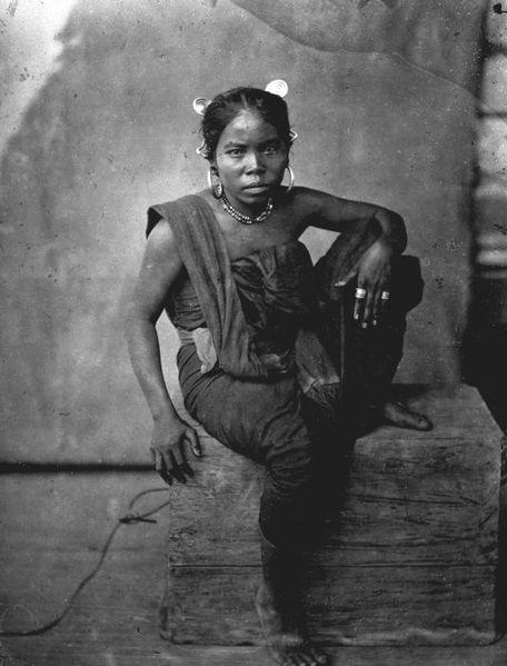 Portrait of a Batak woman, circa 1870