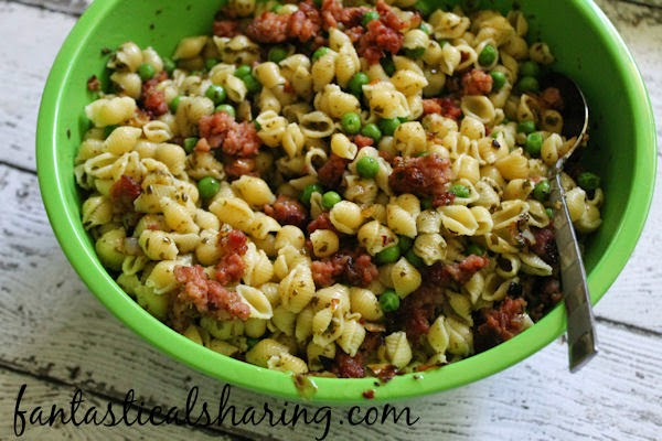 Sausage & Pea Pasta   Sometimes the best recipes are the simple ones, like this pasta with sage sausage and pesto! #recipe