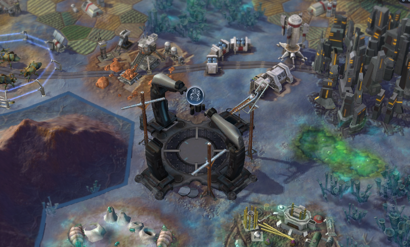 An Emancipation Gate, under construction. You'll need one to complete the Supremacy Victory in Civilization: Beyond Earth.