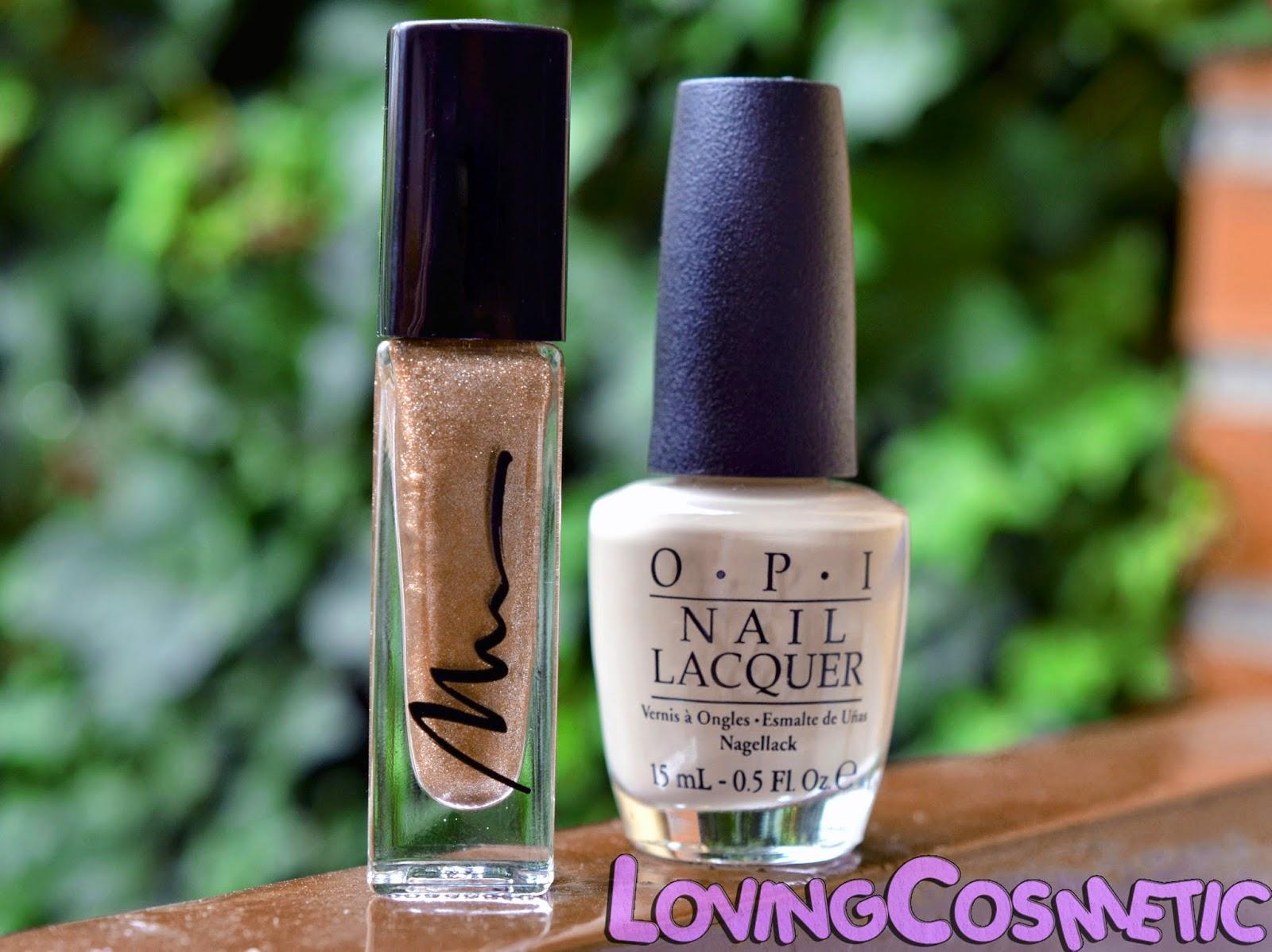 OPI Nail Art Vain-illa Vainilla Uñas diseño de uñas dorado navidad cute fino elegante easy facil nail art  marionnaud nails