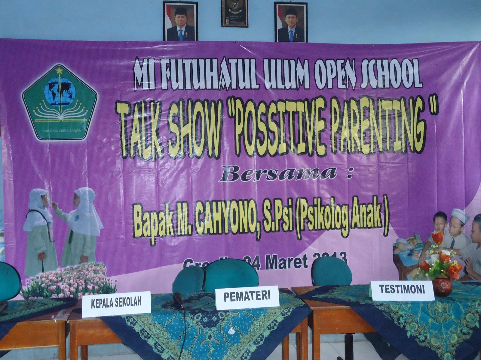 """MI Futuhatul Ulum menggelar Open School yang diisi oleh berbagai acara menarik antara lain Lomba Mewarnai Children Talent Show """"Parade Musik Seruling"""