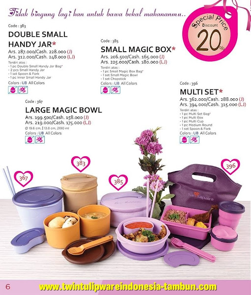 Promo Diskon Tulipware Februari 2016, Double Small Handy Jar, Small Magic Box, Multi Set