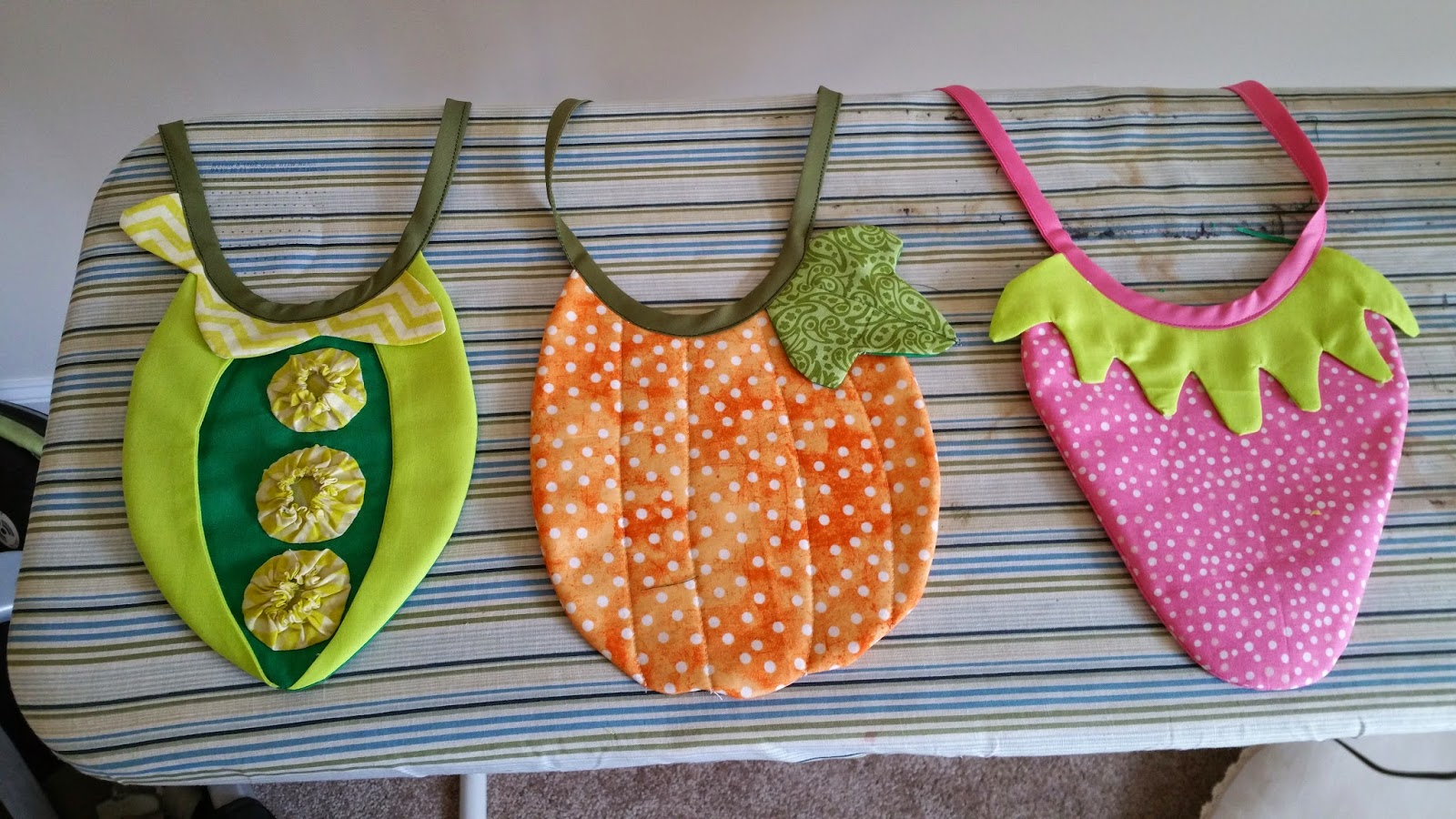 homemade fabric bibs and baby presents
