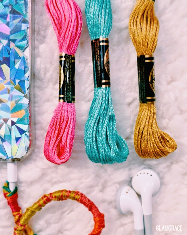 styled and decorated earphones