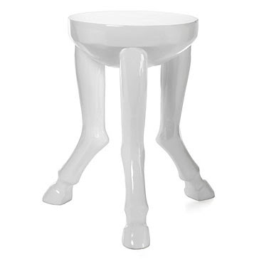 Z GALLERIE HOOF LEGGED TABLE