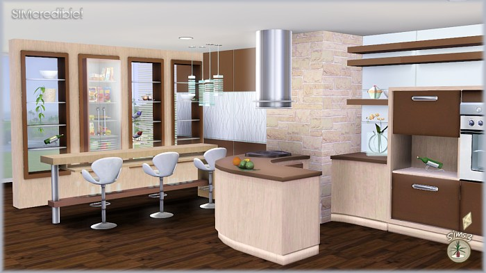 My Sims 3 Blog: Audacis Kitchen Set by Simcredible Designs