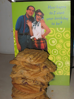 Birthday card and cookies from Eric