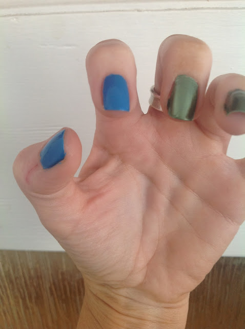 Avon Arctic Goddess Nail Collection -  Arctic Waters and Green Goddess