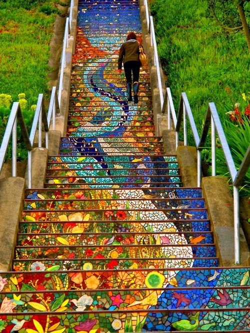 Mosaic stairs design in San Francisco