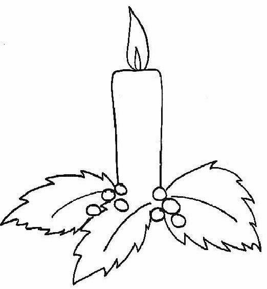 pintando e colorindo velas de natal para colorir desenhos de velas