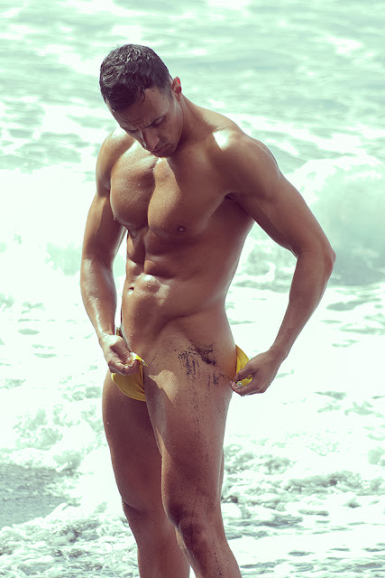 Sexy model Fran Gonzalez by Adrian C. Martin in Glory Hole Modus Vivendi swimwear
