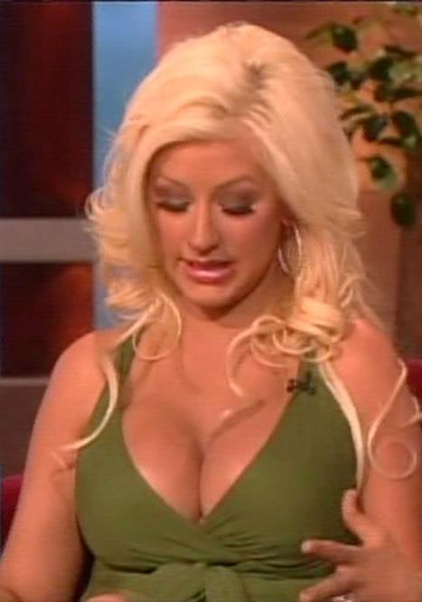 Christina aguilera boob job