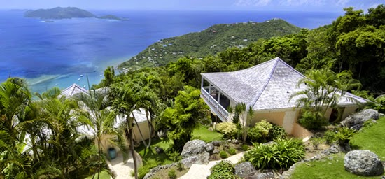 The view from this luxurious property for sale in the British Virgin Islands