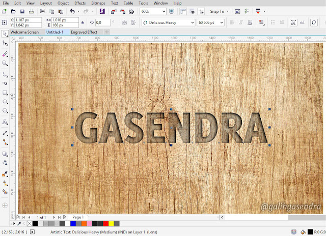 CorelDRAW Tutorial Carved Text Effect