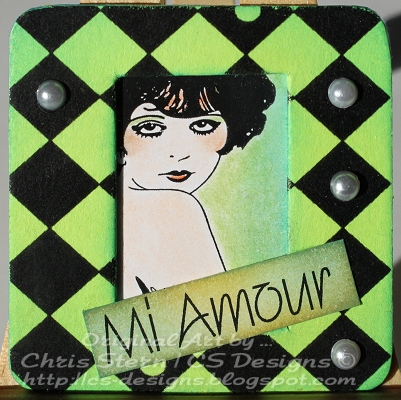 Clara Bow Altered Recycled Photo Slide Mount