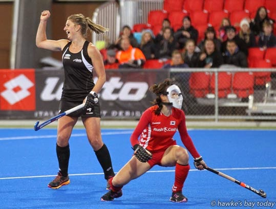 Olivia Merry, Black Sticks, scored from a penalty - Hockey vs Korea, Hawke's Bay Cup 2015, Festival of Hockey at Hawke's Bay Regional Sports Park, Hastings. photograph