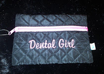 Dental Girl Monogrammed Make-up Bag