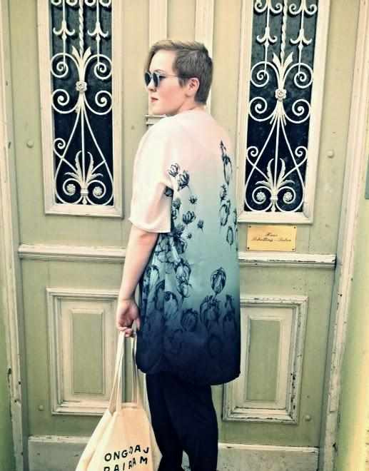 Floral Kimono and Vintage Glasses