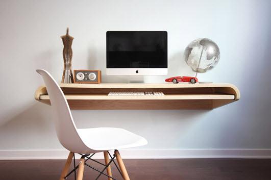 mueble de escritorio flotante