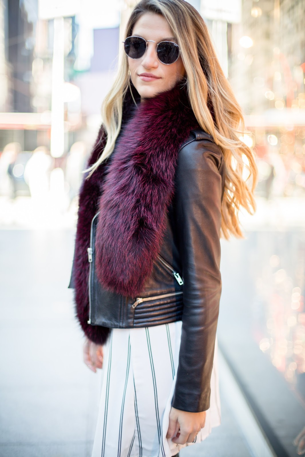 faux fur stole, cassandra dimicco, dressed for dreams