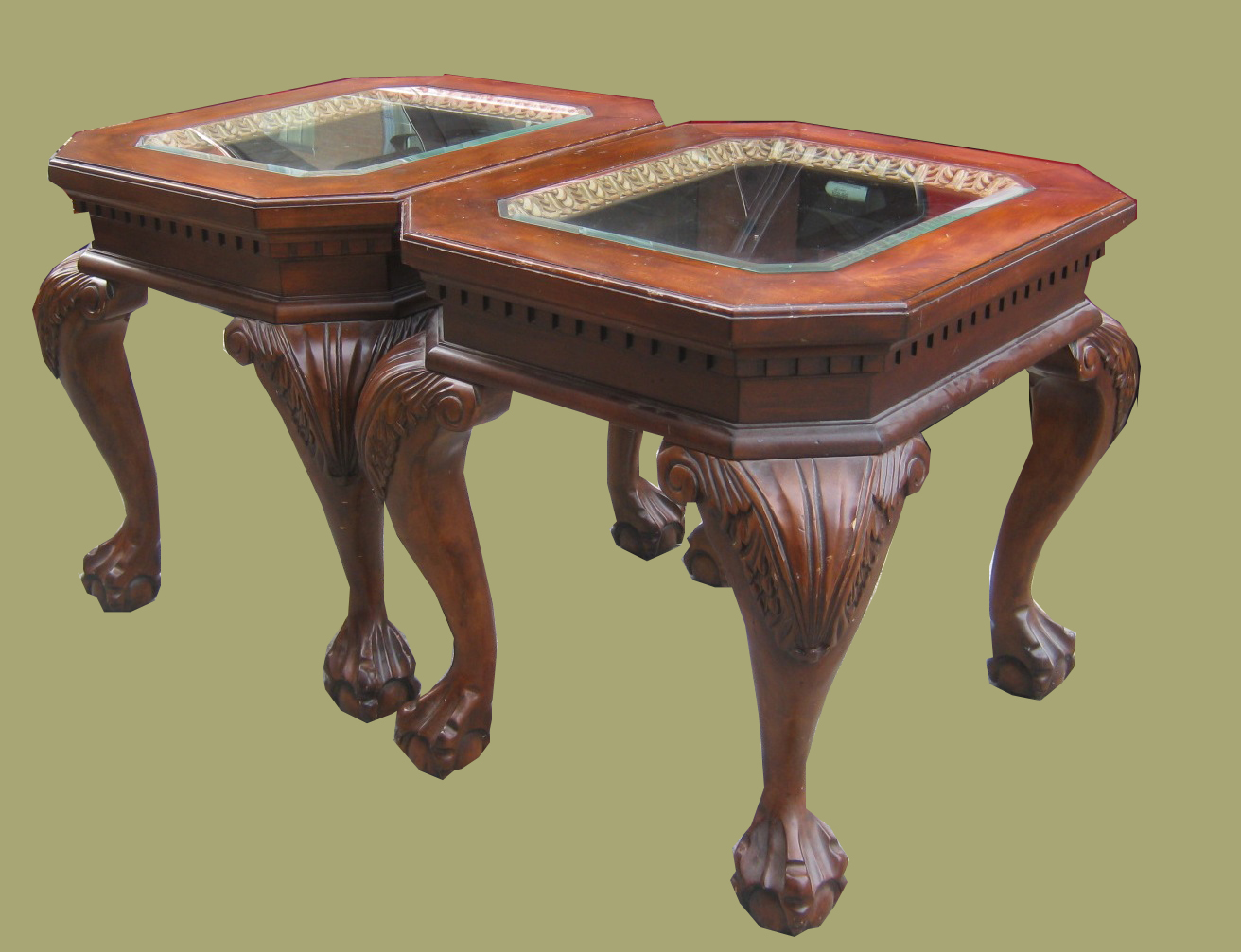 Uhuru Furniture Collectibles Ball Claw Foot 2 End Table Set Sold