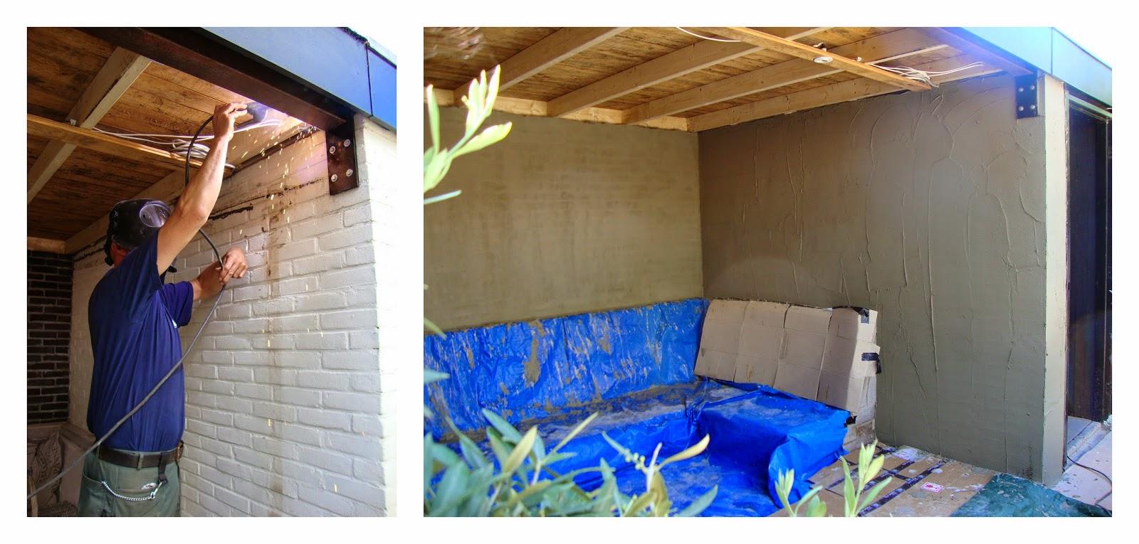 De zandhut feedage 10541611 - Veranda met muur ...