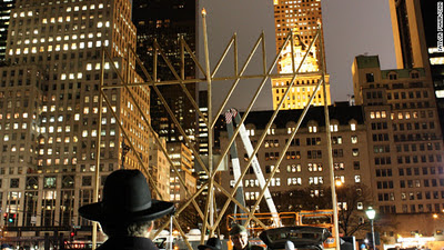 menorahs lighted in new york, nation's capital