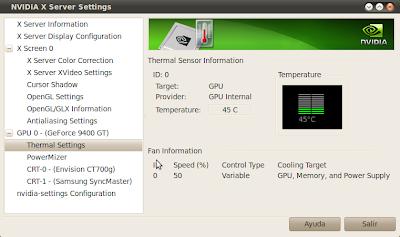 Imagen de como ver la temperatura de la GPU NVidia en Ubuntu