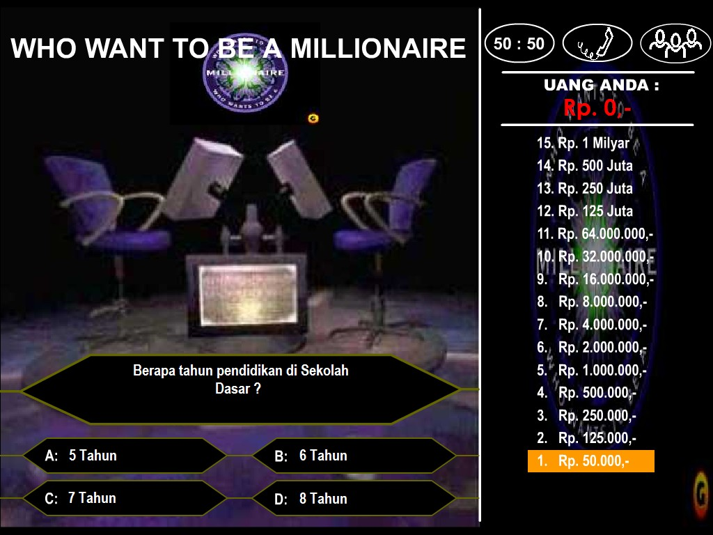 Who Wants To Be A Millionaire Powerpoint Templates