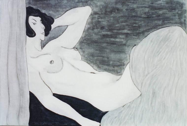 014 - 00001990 - NU DE FEMME A L'ENCRE DE CHINE