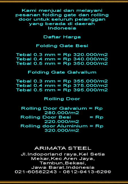gambar untuk folding gate murah terbaru