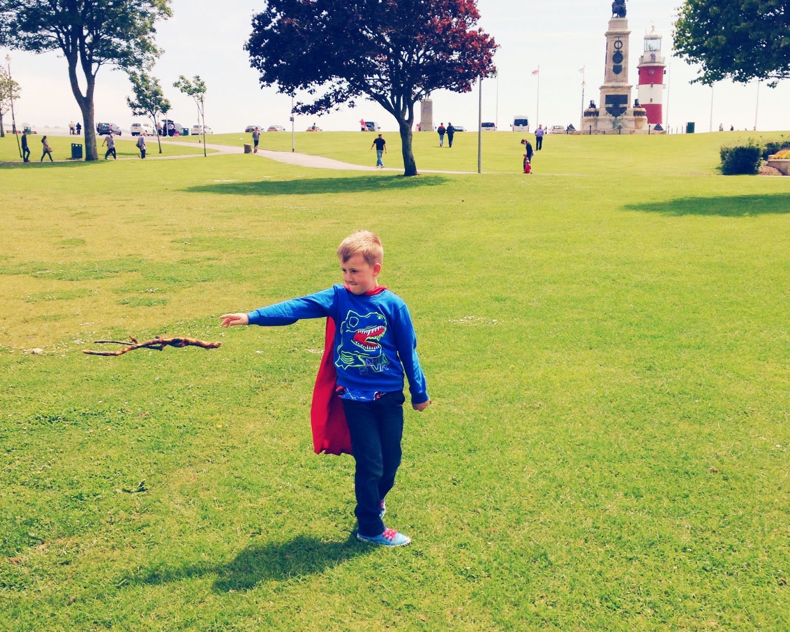 superhero, magic, park, plymouth hoe, plymouth waterfront, smeatons tower, childhood, photography, my sunday photo, parent blogger,