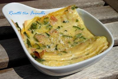 lasagne mortadella e zucchine
