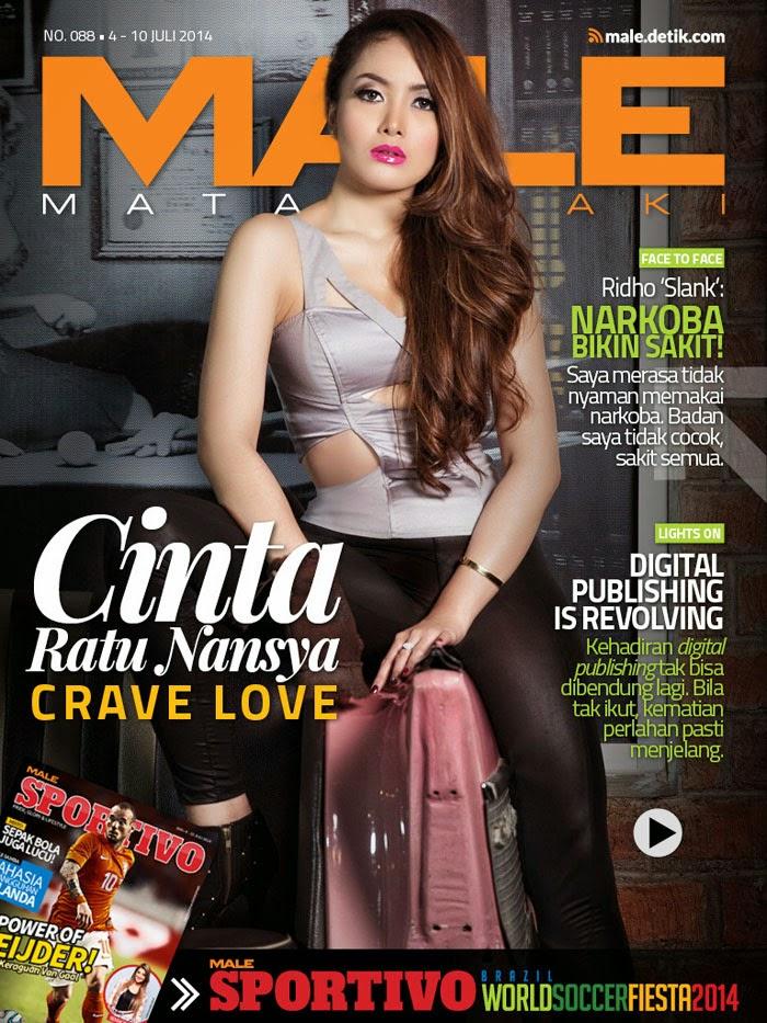 Cinta Ratu Nansya on Cover for Male Magazine July 2014 | MagzSpider