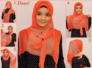 Tutorial Hijab Paris In New Style 2013